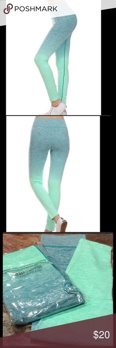 Ocean Green Leggings Stand out in the crowd in these gorgeous ocean green leggings. Perfect for the gym, or running around town. Moisture wicking, 4 way stretch fabric make these so comfortable. 88% nylon, 12% spandex. Available in S/M (fits 0-6), or L/XL (fits 8-10). Comes to you in its original sealed packaging with tags. Pants Leggings