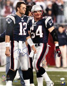 Tom Brady Tedy Bruschi New England Patriots Signed 16x20 Photo Tristar JSA  Patriots Sign 4432a5f1c