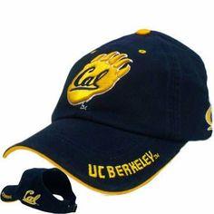 NCAA OPEN BACK HAT CAP UC BERKELEY CAL CALIFORNIA GOLDEN BEARS WOMEN BLUE  YELLOW by Colosseum 0aab33b3742d