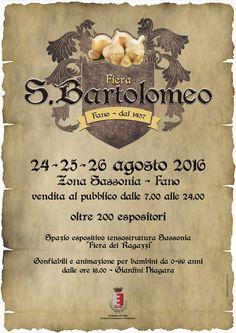 Torna la storica fiera di San Bartolomeo dal 24 al 26 agosto, LaFiera di…