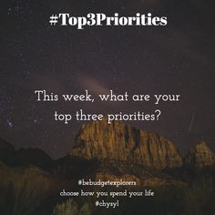 #top3priorities Journal Prompts, Priorities, Budgeting, Advice, Life, Tips, Budget Organization, Diary Ideas, Journal Pages