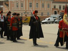 Guard of honour of the Cravat regiment.