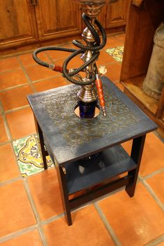 Hey, I found this really awesome Etsy listing at http://www.etsy.com/listing/152155208/blue-kingdom-hookah-table-in-dark-blue