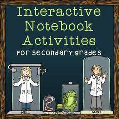 Blog post featuring tons of interactive notebook activities for middle and high school Science Classroom, Teaching Science, Science Education, Teaching Ideas, Teaching Resources, Classroom Ideas, Science Vocabulary, Google Classroom, Physical Education