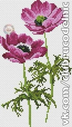 This Pin was discovered by лар Funny Cross Stitch Patterns, Cross Stitch Art, Cross Stitch Flowers, Cross Stitch Designs, Cross Stitching, Cross Stitch Embroidery, Hand Embroidery, Loom Beading, Poppies