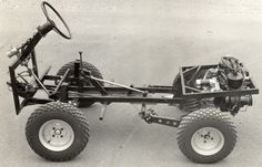 Although the Ferves Ranger used a more conventional ladder frame chassis the concept is very similar Fiat 600, Ford Trucks, Pickup Trucks, Ranger, Homemade Go Kart, Go Kart Plans, Diy Go Kart, Cargo Net, Futuristic Cars