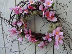 Items similar to Spring and Summer Wreath Dogwood Wreath Pink Wreath Birch Wreath Twig Wreath Easter Wreath Mother's Day Summer Wreath Wreath on Etsy Purple Wreath, White Wreath, Green Wreath, Christmas Mesh Wreaths, Easter Wreaths, Holiday Wreaths, Ribbon Wreaths, Floral Wreaths, Indoor Wreath
