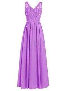 Dresstells® Long Chiffon Prom Dress with Lace Wedding…