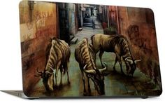 """Street of Three Beasts"" -Levinson Laptop Skin"