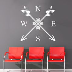 Wall Decal Arrow Compass Rose Nautical Navigate Vinyl Sticker Decals... ($17) ❤ liked on Polyvore featuring home, home decor, wall art, black, home & living, home décor, wall decals & murals, wall décor, black wall stickers and vinyl home decor