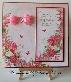A birthday card made using Hunkydory's Love Blossoms card kit. More details can be found at http://stampingbubbles.blogspot.co.uk/2016/10/love-blossoms-part-2.html