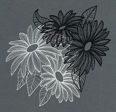 Engraved Daisies design (UT8437) from UrbanThreads.com