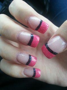 Pink and dark (MY NAILS)