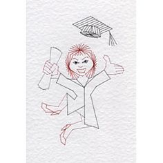 Graduation Student - female | Special Occasions e-patterns at Stitching Cards.
