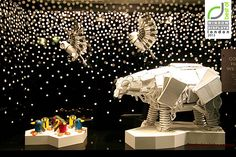 John Lewis windows 2013 Winter London Amazing windows with sculptural animals made out of everyday objects