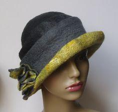 Felt by Bridget: Felted Hats - Gallery Felt Hat, Wool Felt, Felt Boots, Love Hat, Cool Hats, Felt Fabric, Wet Felting, Hat Making, Headgear