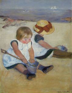 Cassatt, Mary: Children on the Beach
