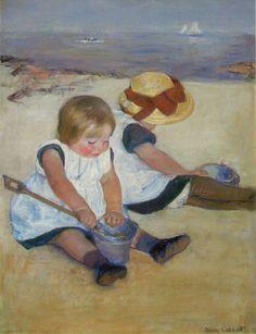 Cassatt, Mary: Children on the Beach