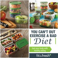Fit & Fresh helps fuel your body with healthy eating! Visit www.Fit-Fresh.com to learn more #portioncontrol