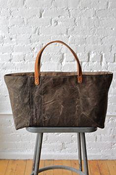 1930's era Black Canvas Tote Bag