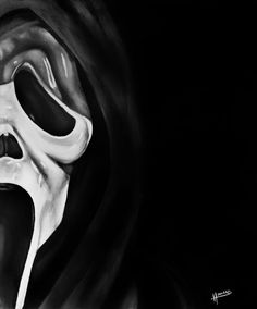 This is a 10 x 12 print / reproduction on a thick paper stock of the Ghostface killer from the SCREAM movies from a painting by myself - it is #15