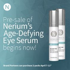 Nerium International is thrilled to announce the newest addition to our product line in the United States, Canada and Mexico: Age-Defying Eye Serum!