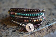 Pretty wrap bracelet - handmade My Favorite Five Wrap Bracelet by Runwraps on Etsy, $90.00