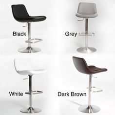 Enhance Your E With This Modern Adjule Height Swivel Stool Featuring A Brushed