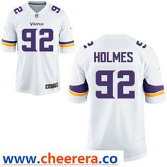Men s Minnesota Vikings  92 Jalyn Holmes White Road Stitched NFL Nike Game  Jersey 40571e20c