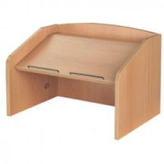 Laminate Folding Desktop Lectern The laminate folding desktop lectern is a traditional table top lectern available in beech and anthracite