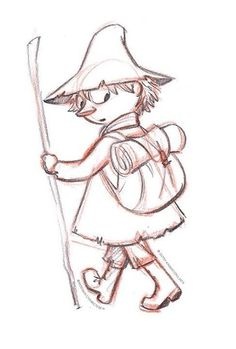 My heart has legitimately melted because of these concept art images of snufkin. Cartoon Drawings, Easy Drawings, Moomin Cartoon, Rick And Morty Time, Mermaid Pose, Moomin Valley, Cartoon Shows, Fauna, Conte