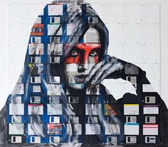 Floppy art by Nick Gentry