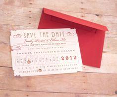 Punch Card - Save the Date. Would be cute if we go with the train depot as a venue.