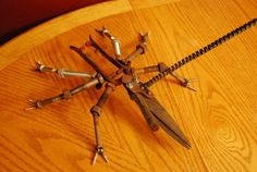 Welded Metal Bug Sculpture from Grass Cutters by dremeWORKS, $70.00