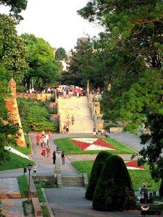 The Great Staircase at Kalemegdan in Belgrade, Serbia