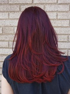 red hair red ombre