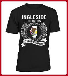 Ingleside Illinois My Story Begins - Shirts für singles (*Partner-Link)