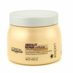Professionnel Expert Serie - Absolut Repair Cellular Mask ( for Very Damaged Hair ) - L'oreal - Professionnel - Hair Care - 500ml/16.9oz by L'Oreal Paris. $34.58. Product Description Formulated for very dry & damaged hair Provides ultimate conditioning action Deeply nourishes & revitalizes hair Replenishes moisture & imparts radiance Leaves hair satiny soft & healthy - L'Oreal - Professionnel - Hair Care