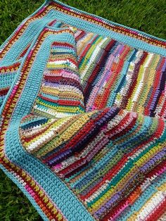 Scrappy Crochet Blanket (use up scraps) Looking for the pattern!
