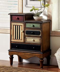 Another great find on #zulily! Vintage Multicolor Drawer Chest #zulilyfinds