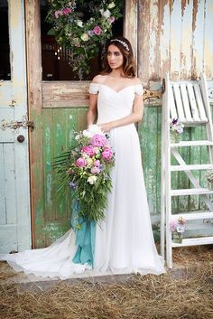 >> Click to Buy << Romantic Chiffon A-Line Vintage Wedding Dresses Elegant Simple Pleated Long Bridal Gowns #Affiliate