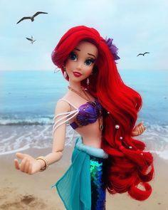 Disney Barbie Dolls, Ariel Doll, Disney Princess Dolls, Disney Princess Drawings, Disney Princess Pictures, Disney Pictures, Ariel Disney, Disney Pixar, Disney Marvel