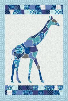 This quilt uses unique shapes to form the giraffe combined with traditional blocks for the border. Your little one will adore this amazing quilt! Purchase as is, or you can customize with the colors a