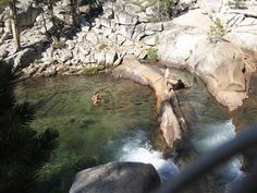 Swimming pool next to Pothole Dome in Yosemite - this is the country we backpack in! http://SierraSpirit.biz
