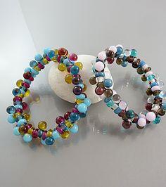 Hand Blown Glass Jewelry |Glasperlen Schmuck |Armbänder | Each is a One Of A Kind Piece |Available On Etsy By Melanie Moertel https://www.etsy.com/shop/melaniemoertel?section_id=5972262&ref=shopsection_leftnav_4 80,00 €