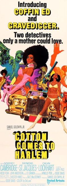Cotton Comes to Harlem (1970) Original Insert Movie Poster