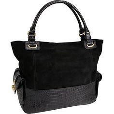 Rafe New York Gemith Soft Croco Large Tote Black - Rafe New York Designer Handbags