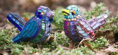Mosaic birds by Reclaimed Mosaics