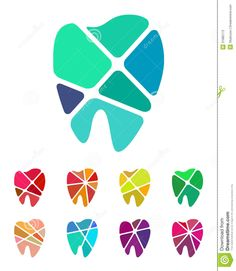 Design teeth logo element