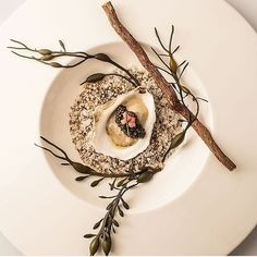Pemaquid oyster, onion thyme cream, prime Osetra caviar by ・・・ Tag your best plating pictures with to get featured. Food Styling, Food Photography Styling, Food Design, Modernist Cuisine, Plate Presentation, Food Decoration, Molecular Gastronomy, Edible Art, Culinary Arts